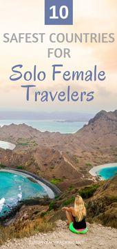 Top 10 der sichersten Länder für weibliche Alleinreisende