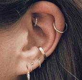 Zubehör. Ohr-Piercings Ideen für Ohrlöcher. Dop…