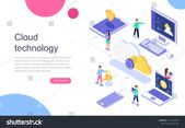 Modern Flat Design Isometric Concept Cloud Stock Vector (Royalty Free) 1164676870
