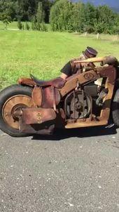 Dieselpunk: Handgefertigtes Moyorcycle mit Pull Starter.   – Black Things