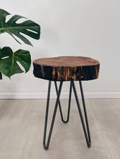 Log Slice Plant Stand Kand Rustic Tree Wood Slab Side Table Tree Trunk Bedside Table Gardenia G Wood Slab Table Tree Trunk Bedside Table Rustic Plant Stand