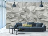 3D Wallpaper MURAL Abstract Room Art White Stone Triangle Look WALL DECOR Poster  | eBay