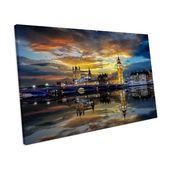 Mercury Row Canvas Print London City Sunset Skyline | Wayfair.de