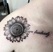 Trendy #Tattoo #Sunflower #Shoulder #Quotes #17+ #Ideas # #tattoo # #quotes ,  #Ideas #Quotes…