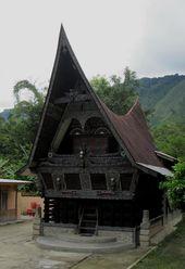 Rumah Adat Karo Vector : rumah, vector, Batak, House, Ideas, Toba,, Indonesia,, Traditional