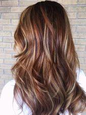 Haare rot ombre blond Sommer 30 Trendy Ideen #haar #braunhaar