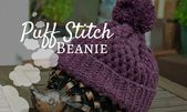 Crochet Puff Stitch Autumn Beanie – Crochet