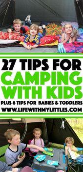 27+ tips för camping med barn – livet med mina kittar