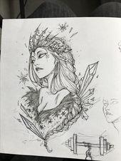 Winter lady tattoo design by Chestnut tattoo   – Tattoos [neu]