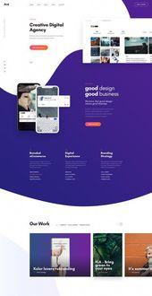 Website design layout. Inspirational UXUI design samples. #WebDesign #UX #UI #WebPageLayout #DigitalDesign