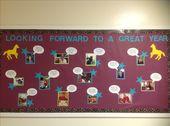 Mein Bulletin Board für den Schulanfang. Alle Bilder sind von Aktivitäten von yea … – Worthy of Work-CLASSROOM IDEAS