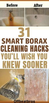 Borax es un limpiador doméstico increíble con tantos consejos de limpieza. Limpieza de hacks para …