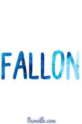 Baby Names for Boys @ Nameille.com FALLON  – Kids and parenting RSS