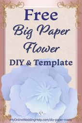 DIY Giant Paper Flowers – Wedding Ideas & Inspiration