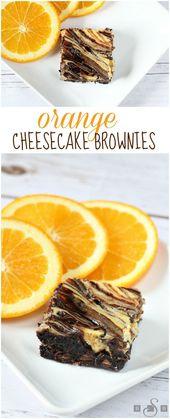 Orange Cheesecake Brownies – Butter mit einer Beilage Brot – #Brownies #Aber …