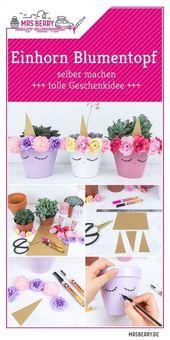 Einhorn Blumentopf DIY | MrsBerry Familien-Reiseblog | Über das Leben und Reisen mit Kind – Diy geschenke