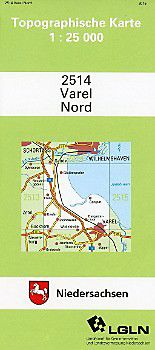 Varel Nord 1 25 000 Karte Im Sinne Von Landkarte Buch In