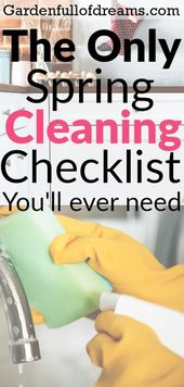 The Only Spring Cleaning Checklist You Will Ever Need