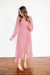 b8566a243d57 Blush/Purple Floral Hi-Low Dress in 2019 | My Style | Dresses, Floral midi  dress, Hi low dresses