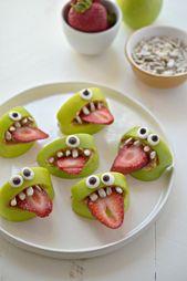 Deko für Halloween in Form von Früchten zubereiten – DIY Food / Essen / Backen / Getränke / Geschenke aus der Küche