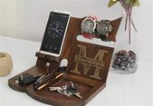 Husband birthday gifts for Husband Wood Docking Station Husband Personalized gifts for Husband Anniversary Gift for Husband Charging Station