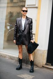Leather Is Back, According to Milan's Street Style Stars