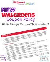 New Walgreens Coupon Policy Changes 2014 Walgreens Couponing Extreme Couponing Tips Couponing For Beginners