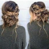 How To Hairstyle: The messy braid bun -