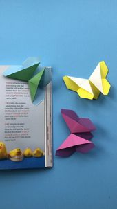 Origami Butterfly Bookmark (easy)