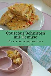 Couscous Schnitten mit Gemüse – Für kleine Feinschmecker