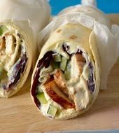 Wrap de pollo   – Huhn Rezepte –  Chicken recipes