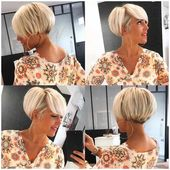 60+ new modern short haircuts for women – pixie and bob cut 2019 – #women #short haircuts #modern #pixie – #new