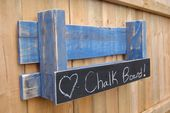 Chalk Board Shelf, Blue Rustic Wall Organizer, Rustic Rack, Pallet Board Shelf, Kids room, Book shelf, Wine holder, Free Domestic Shipping