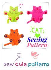 Cat Plush Pattern von Sew Cute Patterns auf Etsy! Schnittmuster enthält Instr …
