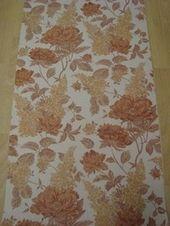 Behang Roest Bruin Vinyl Bloemen Opruiming 63 Opruiming Behang