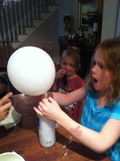 A Marmie Life: Kids' Pinterest Day Camp  blow up balloons with vinegar & baking soda
