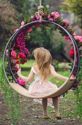 Photo of Hanging Hoop Swing Hanging Swing Photography Prop Children Swing Cradle …