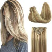 Haarverlängerungsclip in Schokoladenbraun