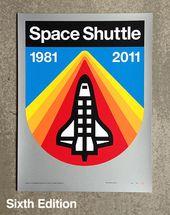 "Draplin Design Co.: DDC-090 ""Space Shuttle"" Poster Kit"