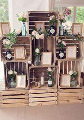 Es wäre super einfach, diesen rustikalen gestapelten Holzkistentischplan zu …   – Wedding Ideas