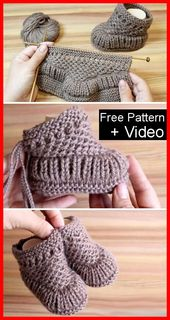 Warm Baby Booties – Free Pattern & Tutorial – Handarbeiten