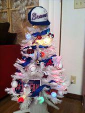 Atlanta Braves Homemade Everything Christmas Tree Proud Of Myself Braves Baseball Atlanta Braves Atlanta Braves Game
