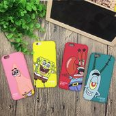 US Animation Cute Spongebob Squarepants Cartoon All-In-One Hard Case Cover Iphone 6 7 8 Plus X XR XS MAX Phone Cases