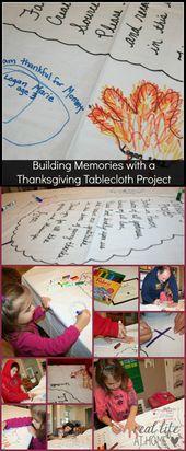 Mit einem Thanksgiving-Tischdeckenprojekt Erinnerungen schaffen   – Making Your Home a Haven