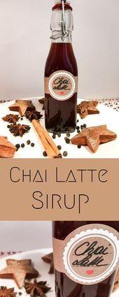 #Chai #Latte #Sirup #DIY #geschenkeausderküche