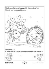 Coloring Page 8 The Special Fish Story Coloring Book Coloring Books Kids Coloring Books Easy Coloring Pages