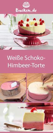 Himbeerkuchen mit weißer Schokolade – Torte gut, alles gut! #Tortenrezepte
