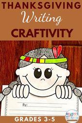 Thanksgiving Craftivity schreiben | Thanksgiving-Schreibaktivität – Fall Classroom Activities