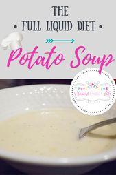 Dieta líquida completa: sopa de papa   – Liquid Diet