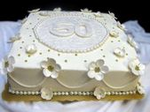 50. Jahrestags-Blatt-Kuchen, der Ideen verziert – Diy Geschenkgeburtstag   – Cakes